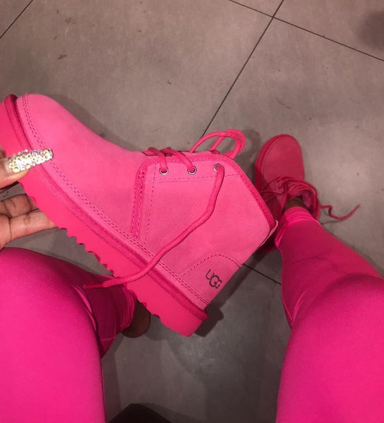 Hot pink/purple boots