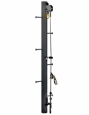 3M  DBI-SALA  Lad-Saf  Cable Vertical Safety System Bracketry for Monopole 6116615, 4 User, Galvanized Steel, 1 EA