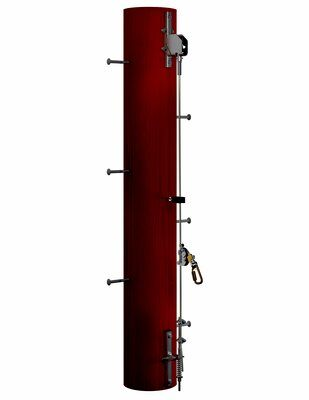 3M  DBI-SALA  Lad-Saf  Cable Vertical Safety System Bracketry for Wood Pole 6116616, 2 User, Galvanized Steel, 1 EA