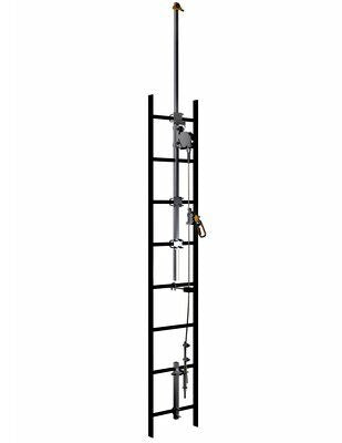 3M  DBI-SALA  Lad-Saf  Cable Vertical Safety System Telescoping Extension Bracketry 6116618, 4 User, Galv. Steel, 1 EA