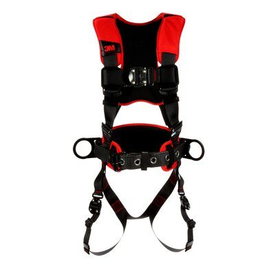 3M  Protecta  Comfort Construction Style Positioning Harness, Black