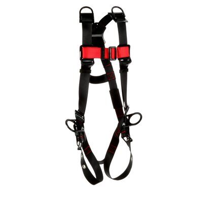 3M  Protecta Vest-Style Positioning/Retrieval Harness, Black