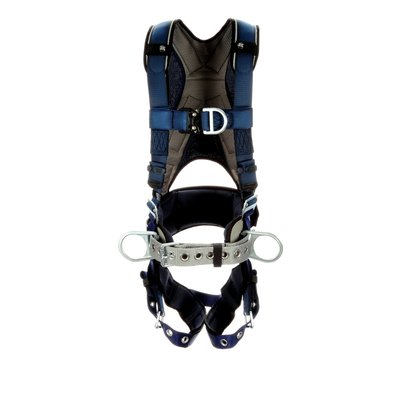 3M  DBI-SALA  ExoFit  Plus Comfort Construction Style Positioning/Climbing Harness, Blue, 1 EA
