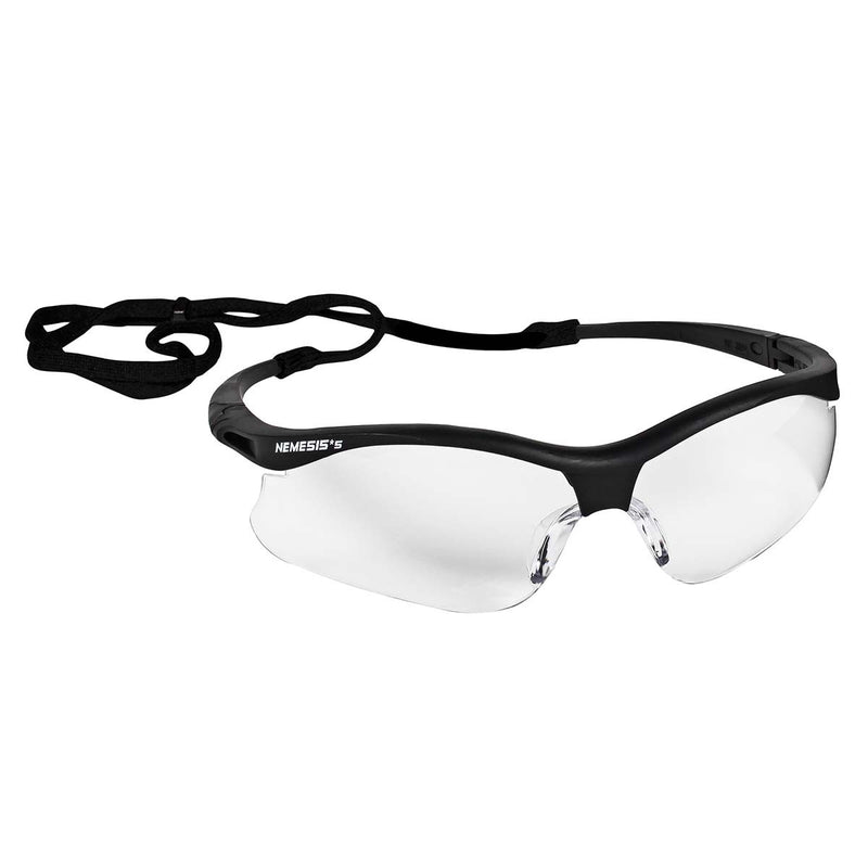 KleenGuard (formerly Jackson Safety) V30 Nemesis Small Safety Glasses (38474), Lightweight, Clear with Black Frame,1 pair