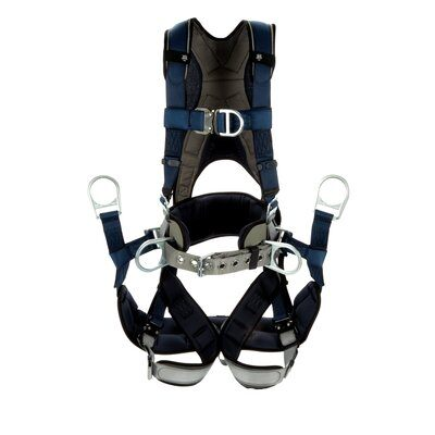 3M  DBI-SALA  ExoFit  Plus Comfort-Style Tower Climbing Harness,Blue, 1 EA