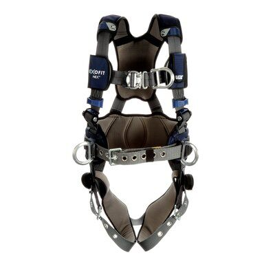 3M  DBI-SALA  ExoFit NEX  Plus Comfort Construction Style Positioning/Climbing Harness, Gray, 1 EA
