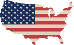 USA flag in the shape of the continental US. But is CBD legal in every state?