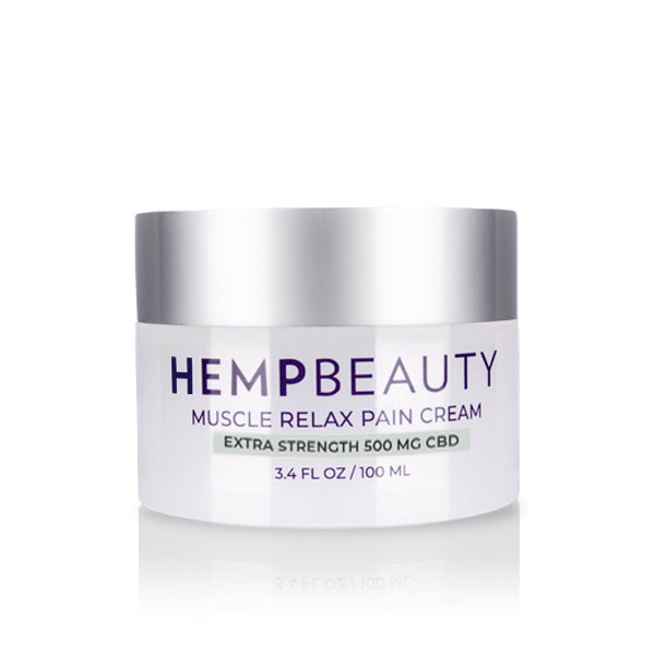 CBD Creams | Hemp Beauty - HempBeauty Muscle Relax Pain Cream 3.4oz/100ml