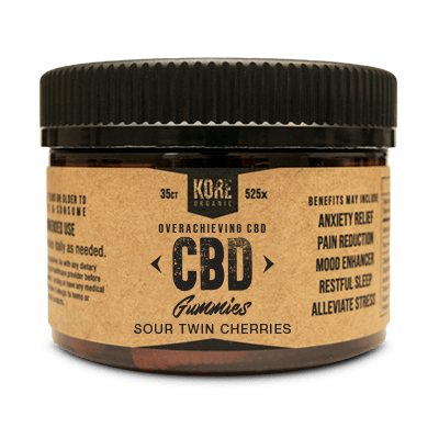 Kore Organic CBD Gummies Sour Twin Cherries - CBD Edibles by Kore Organic