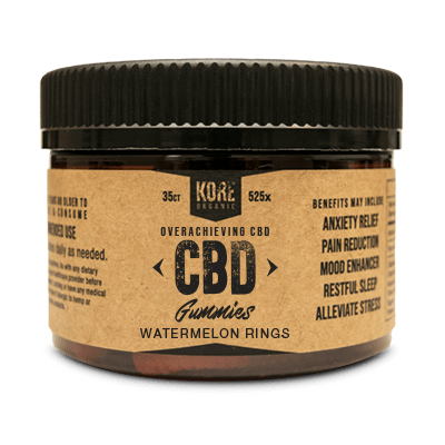 Kore Organic CBD Gummies Watermelon Rings - CBD Edibles by Kore Organic