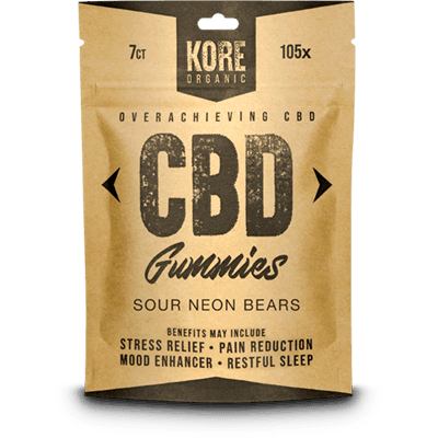 CBD Gummies Sour Neon Bear