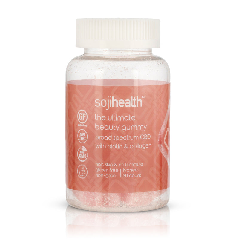 The Ultimate Beauty Gummy Lychee - CBD Edibles by Soji Health