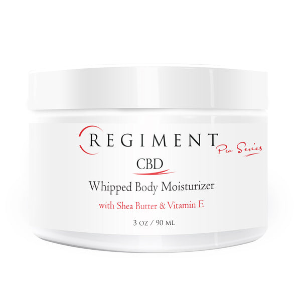 CBD Skincare | Regiment Pro Series - Whipped Body Moisturizer w/ Shea Butter and Vitamin E 150mg Full Spectrum CBD