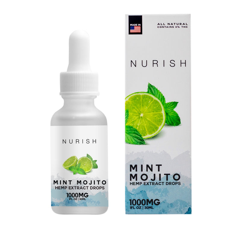 Mint Mojito Hemp CBD Extract Drops - CBD Capsules & Pills Tinctures