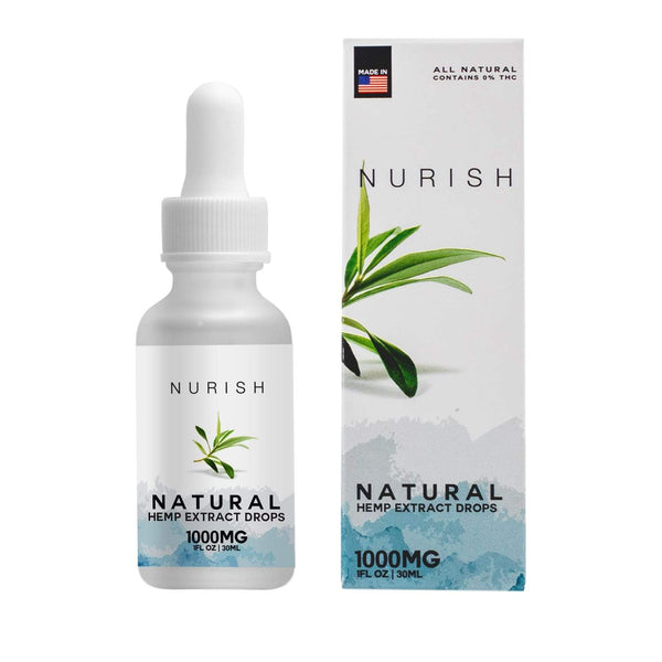 All Natural Hemp CBD Extract Drops - CBD Vape & Smoke Tinctures