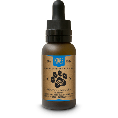 Kore Organic CBD Pet Oil Tincture 30ml Bottle Seafood Medley - CBD Pet Oils