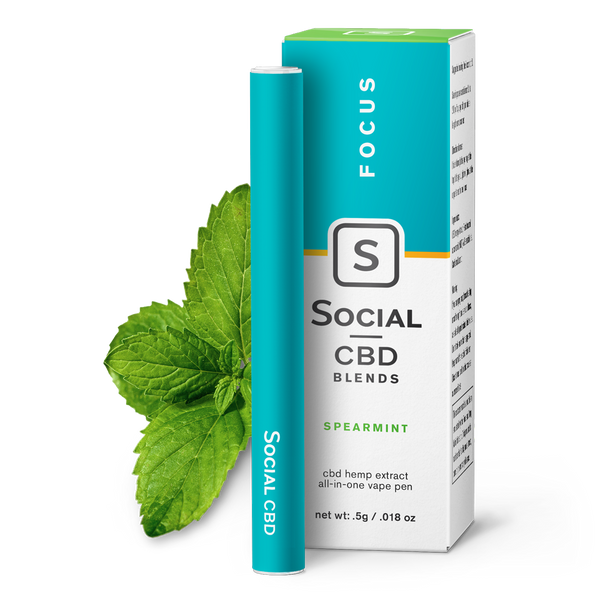 Focus | Spearmint Vape Pen - CBD Personal Care Vape Pens