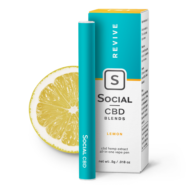 Revive | Lemon Vape Pen - CBD Capsules & Pills Vape Pens