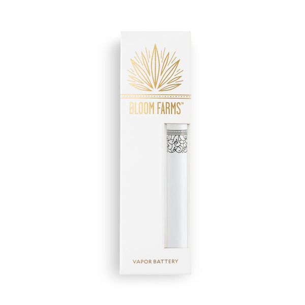 CBD Vape Pens | Bloom Farms CBD - Classic Vapor Battery White