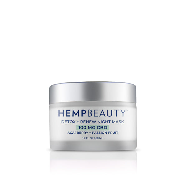 CBD Skincare | Hemp Beauty - HempBeauty Detox+ Renew Night Mask 1.7oz/50ml