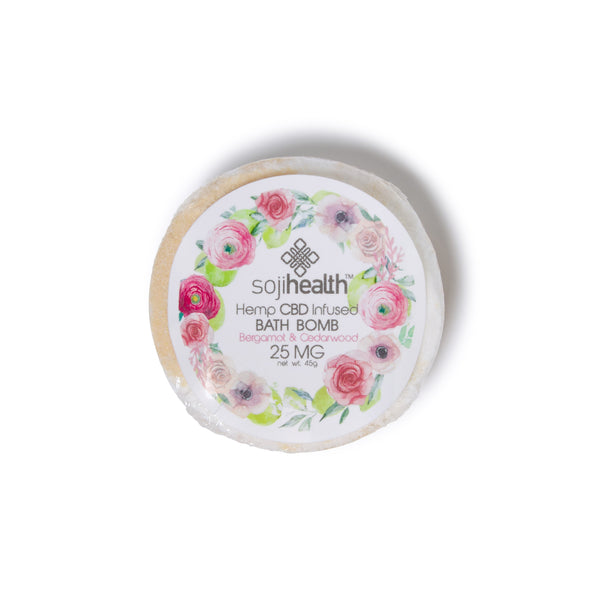 CBD Bath | Soji Health - Bath Bombs Bergamot Cedarwood