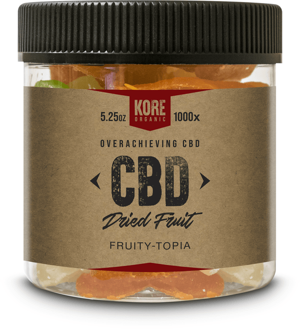 Kore Organic Fruity Topia Jar 8oz/ 5.25oz - CBD Edibles by Kore Organic