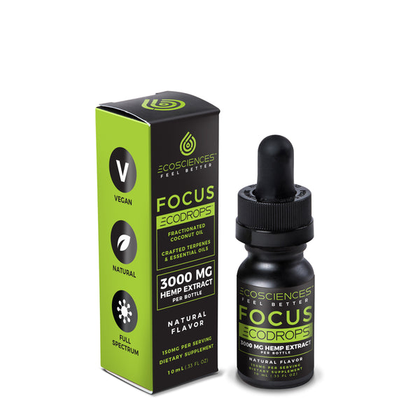 CBD Tinctures | Eco Sciences - ECODROPS™ Focus 10ml