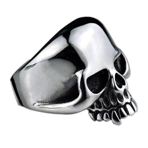 anillo de calavera keith richard plata