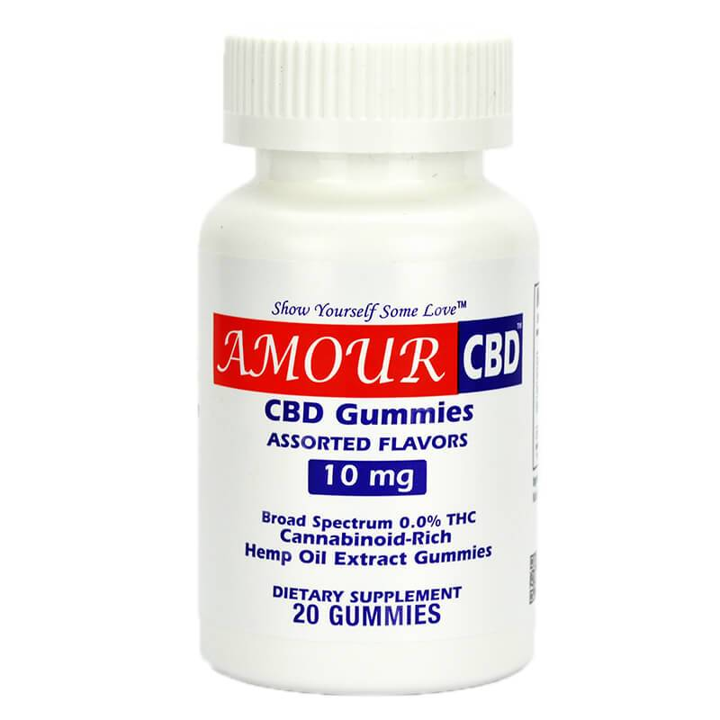 AmourCBD - CBD Edible - Fruit Gummies 20 Count - 10mg