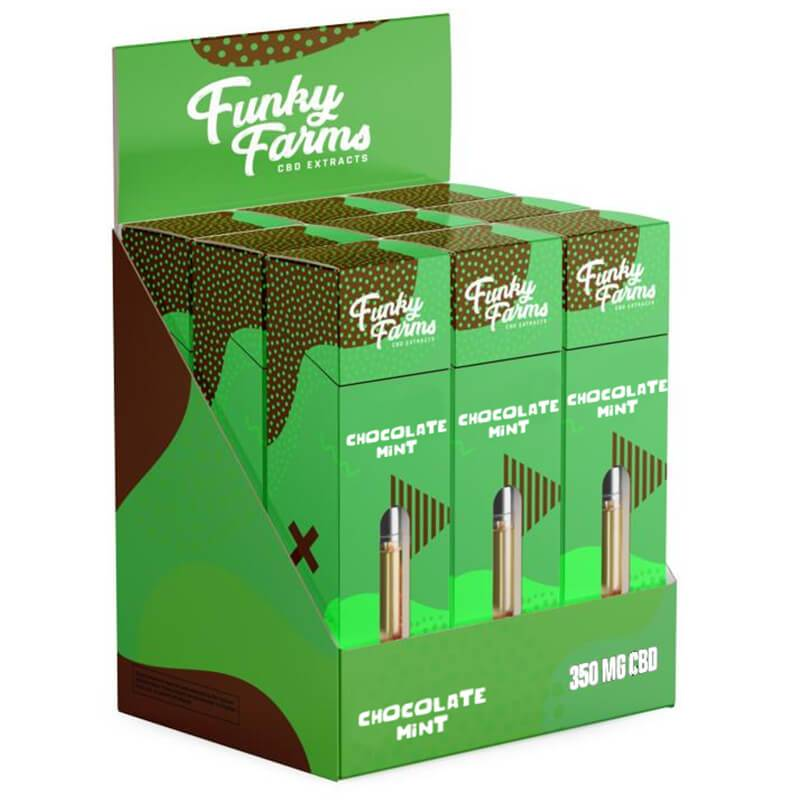 Funky Farms - CBD Terpene Cartridge - Chocolate Mint - 350mg