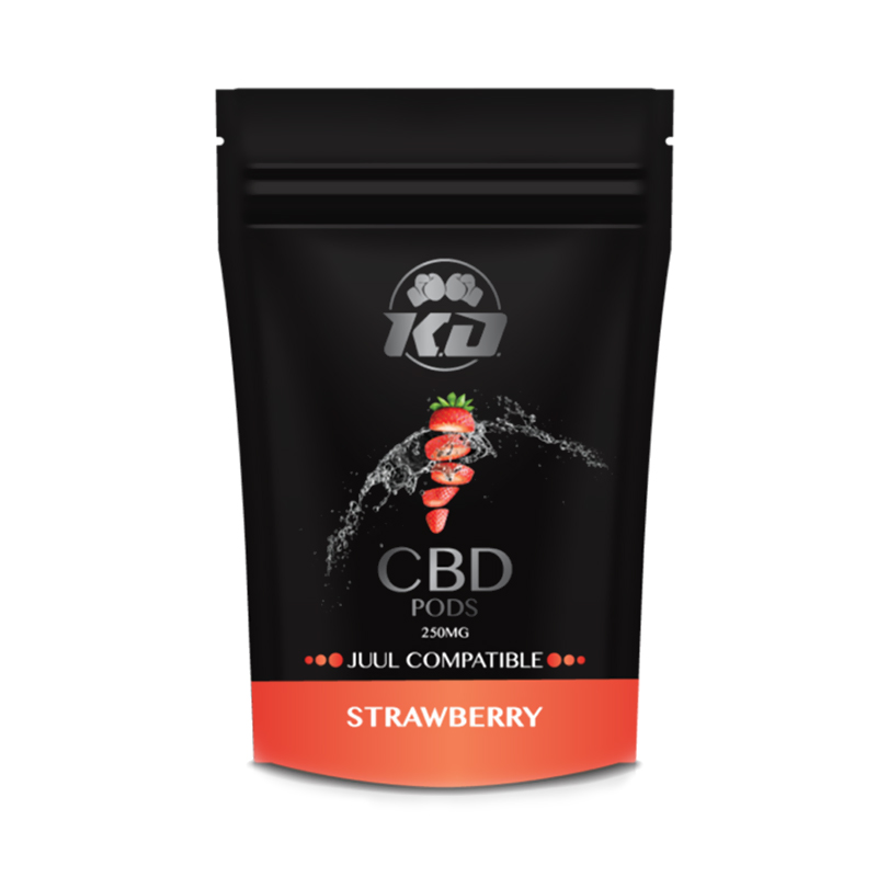 Knockout CBD - CBD Cartridge - Compatible Pods Strawberry - 125mg-250mg