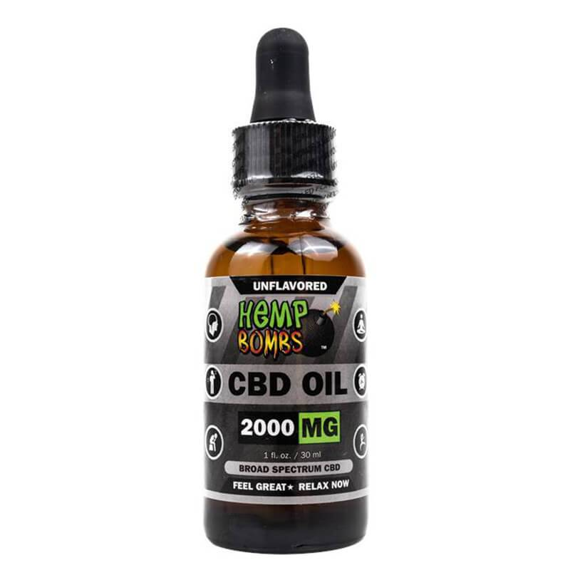 Hemp Bombs - CBD Tincture - Unflavored - 125mg-4000mg