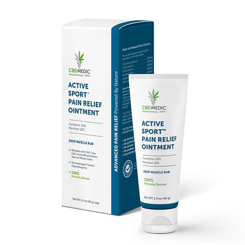 CBD Medic - CBD Topical - Active Sport Pain Relief Ointment