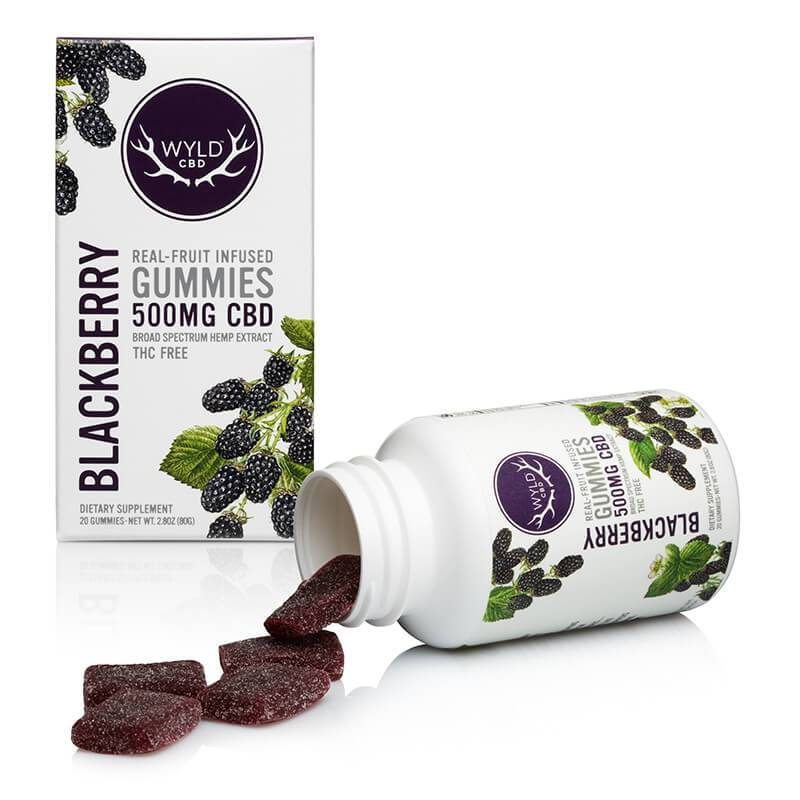 Wyld CBD - CBD Edible - Blackberry Gummies - 250mg-500mg