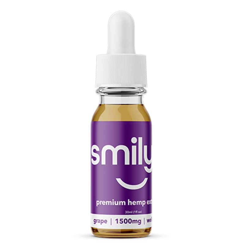 Smilyn - CBD Tincture - Grape - 500mg-1500mg