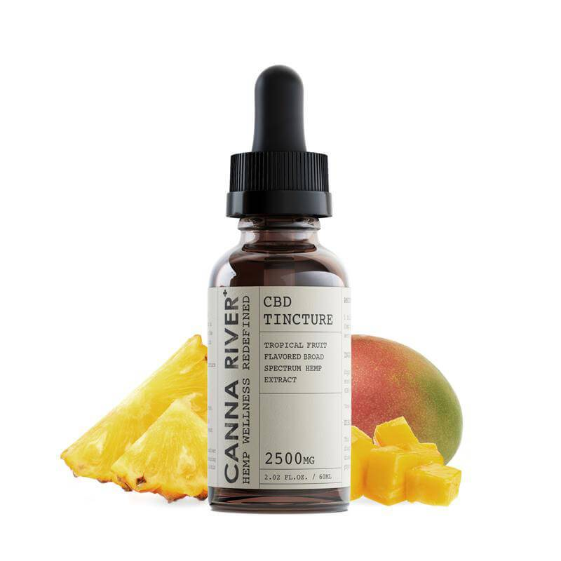 Canna River - CBD Tincture - Broad Spectrum Tropical Fruit - 1000mg-5000mg
