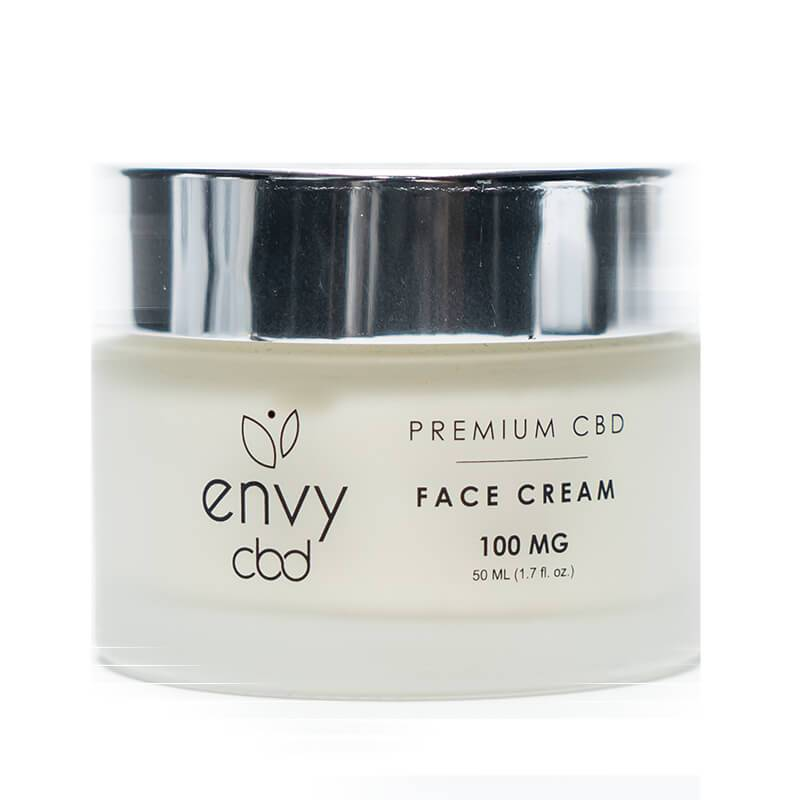ENVY CBD - CBD Topical - Unscented Face Cream - 100mg