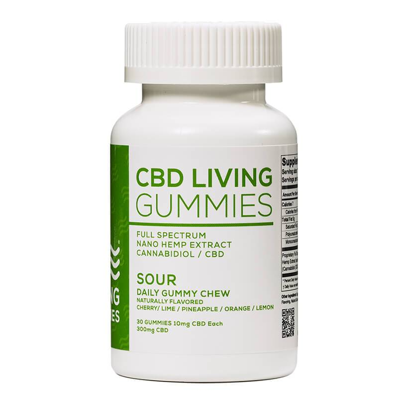 CBD Living - CBD Edible - Sour Living Gummies 30 Count - 300mg