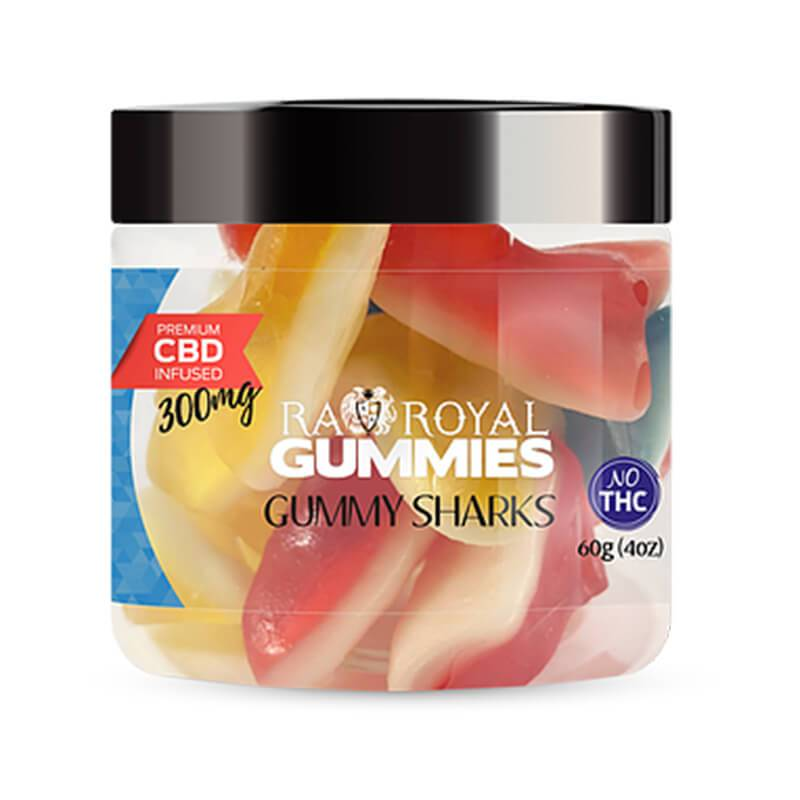 RA Royal CBD - CBD Edible - Gummy Sharks Gummies - 300mg-1200mg