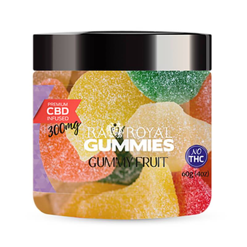 RA Royal CBD - CBD Edible - Gummy Fruit Gummies - 300mg-1200mg