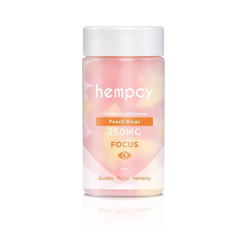 Hempcy - CBD Edible - Peach Ring Gummies - 250mg-1000mg