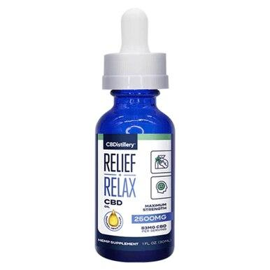 CBDistillery - CBD Tincture - Broad Spectrum Relief+Relax - 500mg-2500mg