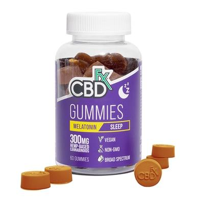 CBDfx - CBD Edible - Broad Spectrum Melatonin Gummies - 300mg