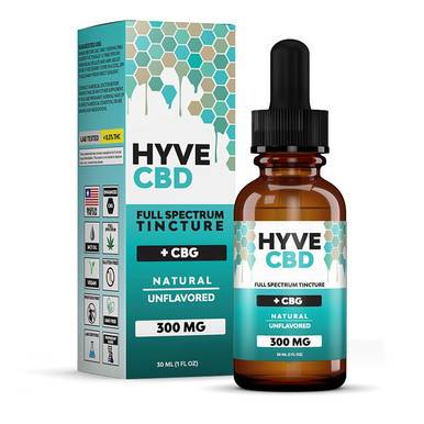 Hyve CBD - CBD Tincture - Full Spectrum Natural+CBG - 300mg-1200mg