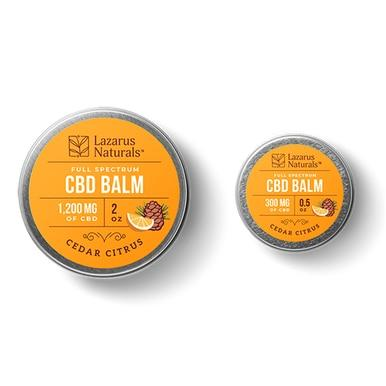Lazarus Naturals - CBD Topical - Cedar Citrus Full Spectrum Balm - 300mg-1200mg