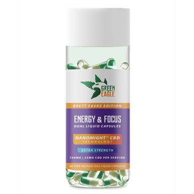 Green Eagle - CBD Capsules - Energy & Focus Liquid Capsules - 25mg
