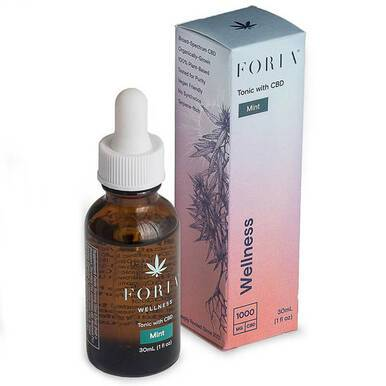 Foria Wellness - CBD Tincture - Mint Wellness Tonic - 1000mg
