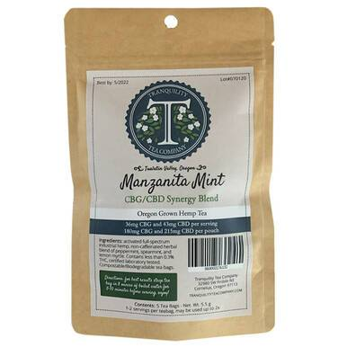 Tranquility Tea Company - CBD Tea - Manzanita Mint CBG Synergy Blend - 215mg