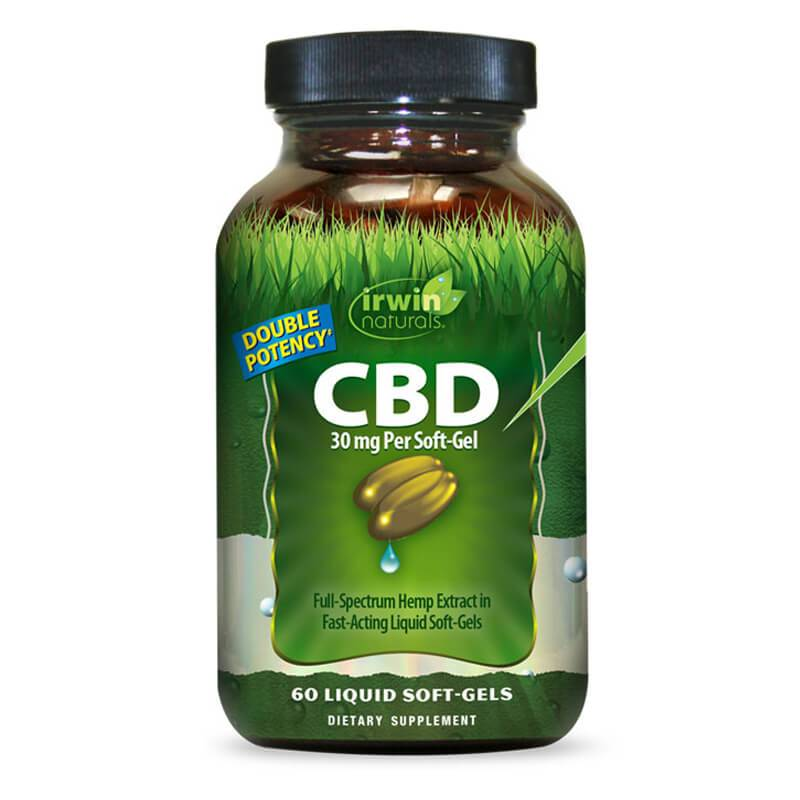 Irwin Naturals - CBD Capsules - Full Spectrum Oil - 10mg-50mg