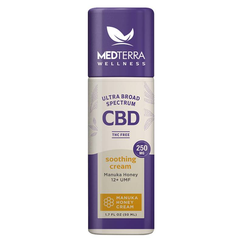 Medterra Wellness - CBD Topical - Manuka Soothing Cream - 250mg